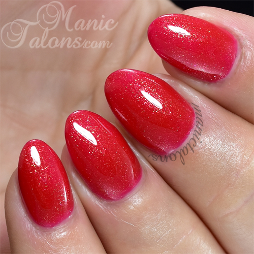Pink Gellac Rockstar Red Swatch