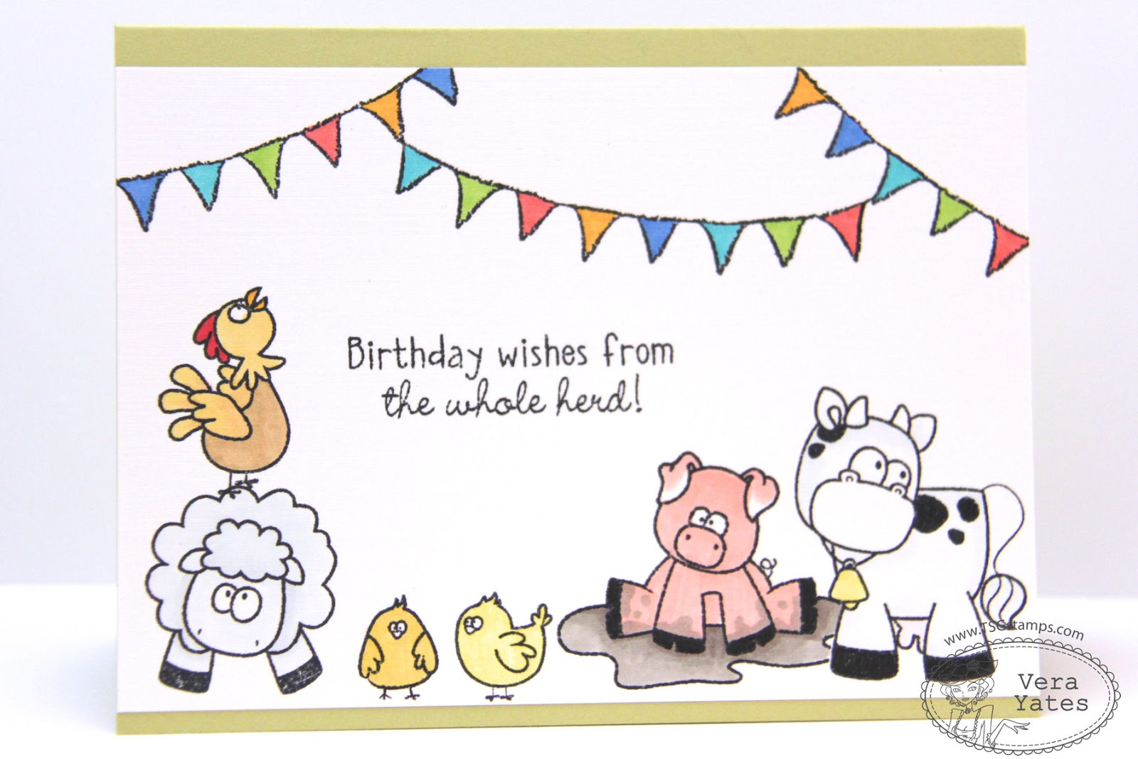 Lings design studio birthday wishes from the whole herd bookmarktalkfo