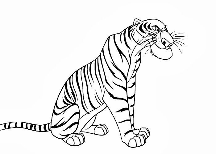 Holiday Coloring Pages free printable jungle coloring pages : Shere Khan coloring pages : Free Coloring Pages and Coloring Books for ...