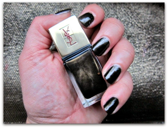 YSL La Laque Couture Bronze Aztec nails