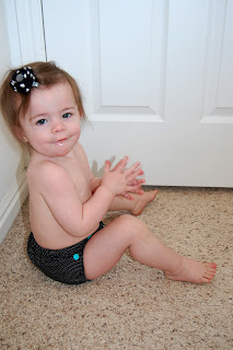 toddler in cloth diaper
