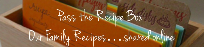 Pass the Recipe Box