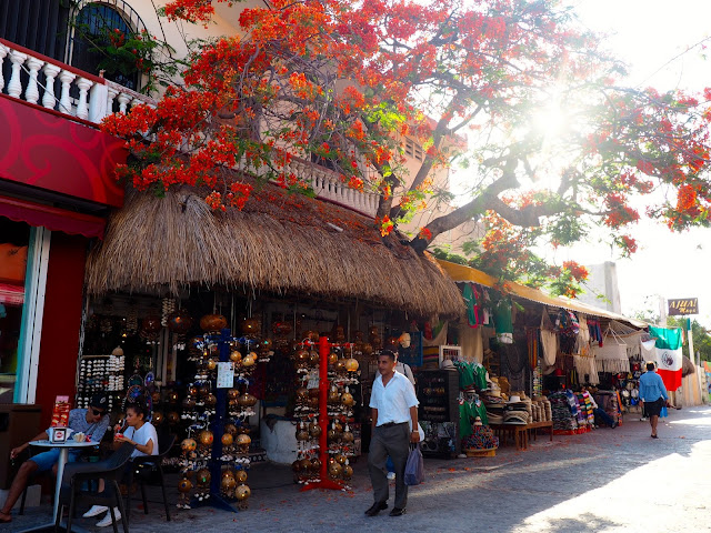 Shops on the streets of Playa del Carmen, Mexico