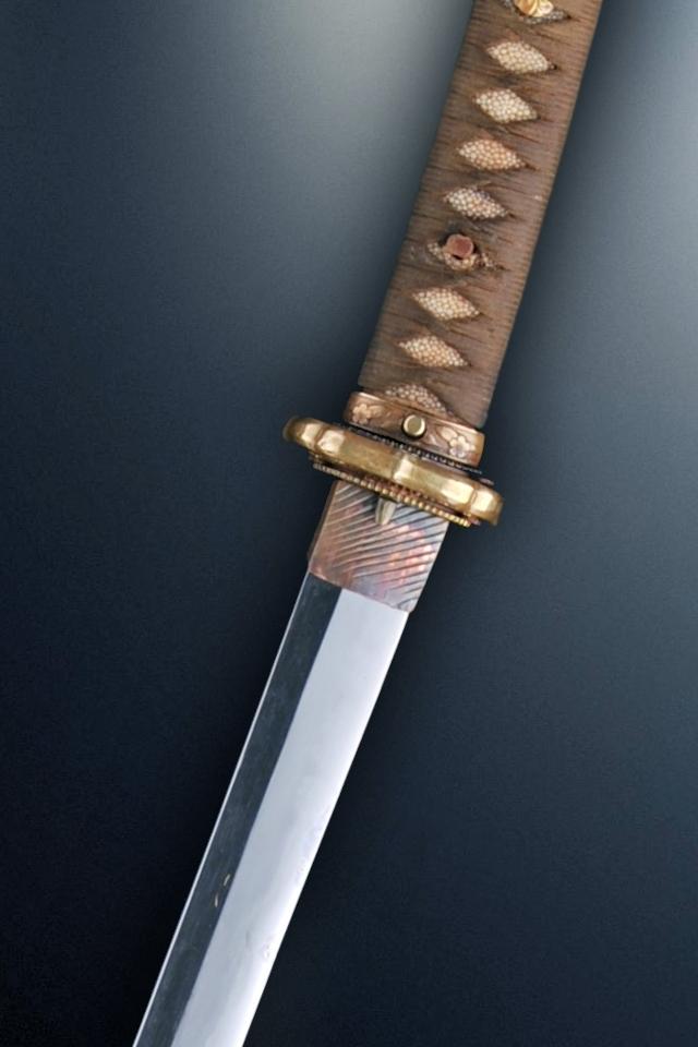 beauty re rendered iphone 4 katana sword wallpaper