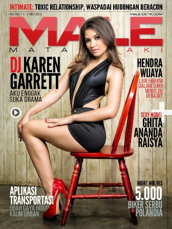 Download Gratis Majalah MALE Mata Lelaki Edisi 131 Cover Model LDJ Karen Garrett MALE Mata Lelaki 131 Indonesia | Cover MALE 131 DJ Karen Garrett - Tak Suka Drama| www.zone.downloadmajalah.com