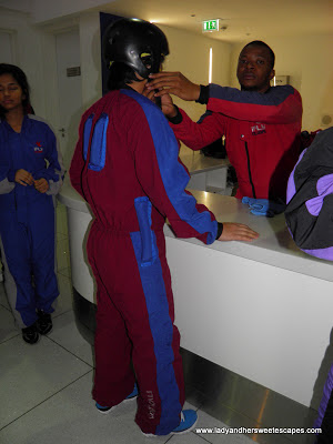 Changing Suit at PlayNation's Ifly Dubai