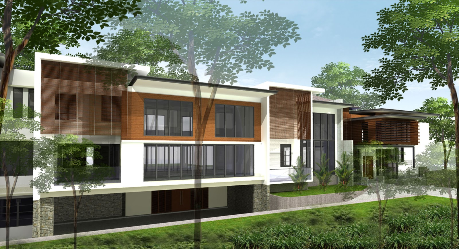 2 storey bungalow with 1 level sub basement sg penchala for Two story bungalow