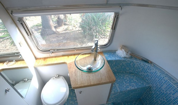 teardrop trailer with bathroom. the gidget comes in two models the
