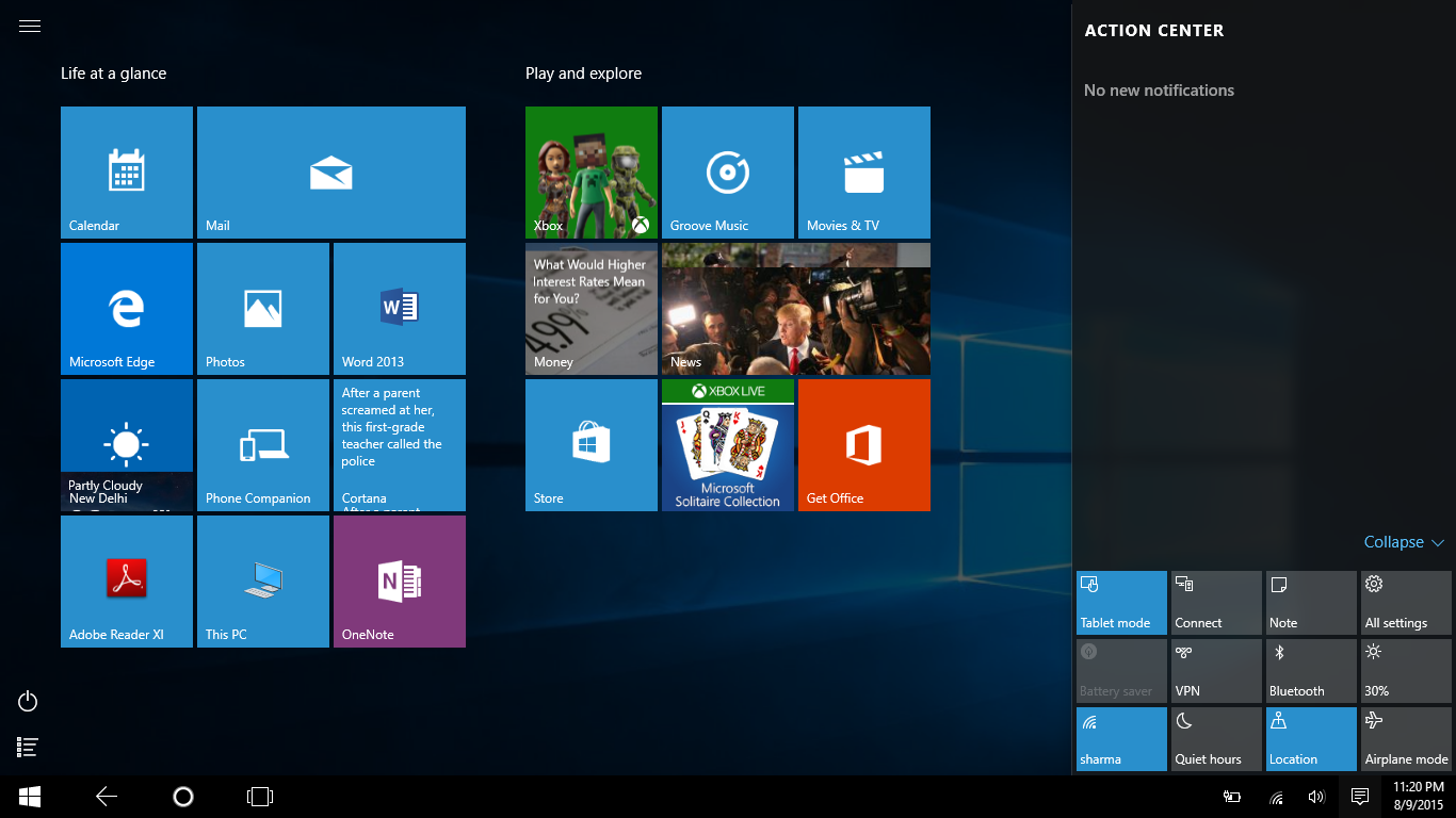 how to add screenshot to windows 10 tablet mode