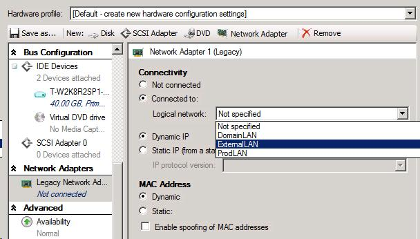 Creating VM Templates in SCVMM 2012 | Outlook looks cloudy