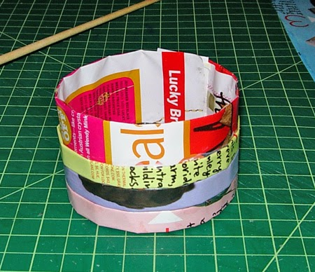 Recycled magazine craft