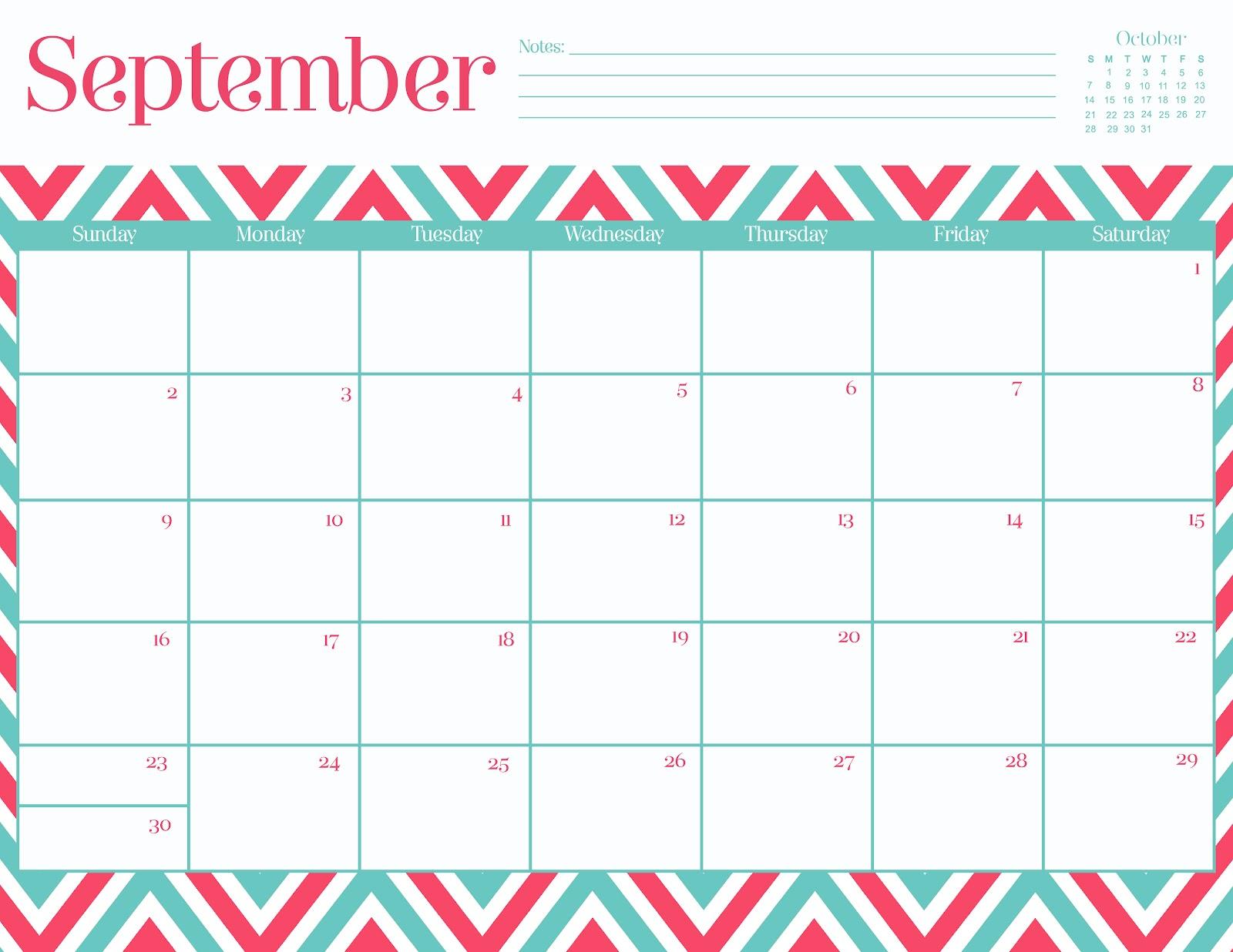 Calendar Design Ks : Oh so lovely free september printable calendars