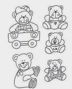 desenhos de varios ursinhos para pintar