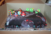 Angry Birds Space cake for Connor. Posted 22nd June 2012 by Shannon