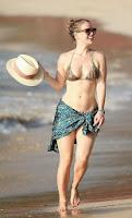 English: Alice Eve TIger Bikini Christmas day Barbados