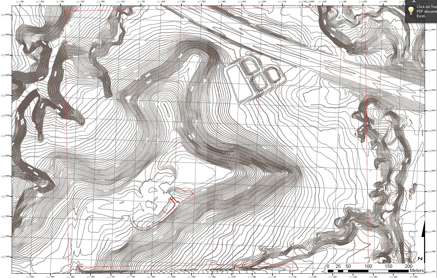 figure 2 2foot contour map created by my groupmate brandon this should help us to get a forecast of our terrain before we have to traverse over to it