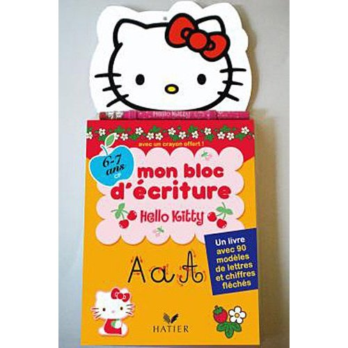 bloc d'ecriture hello kitty pour apprenddre le graphisme