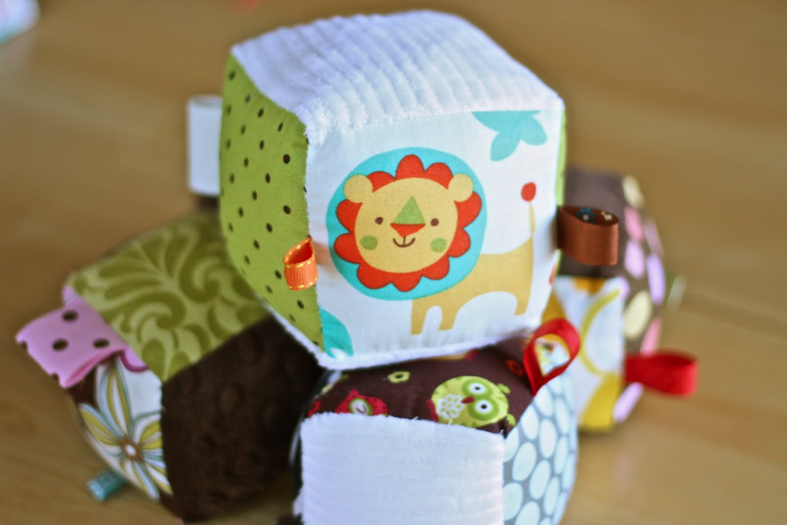 Baby Blocks Toys : Zaaberry baby soft block with ribbon tutorial
