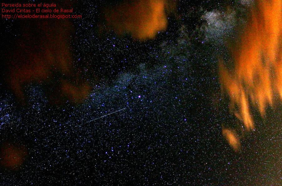 Perseidas estrellas fugaces aguila via lactea - El cielo de Rasal