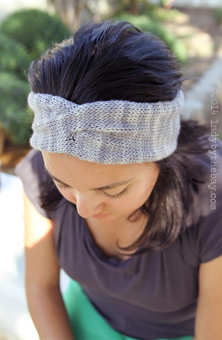 Twisted Headband Knit Pattern : Lady by the Bay-Twisted Headband Knitting Pattern