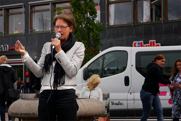 Gudrun Schyman, Göteborg, järntorget, 2014, Fi, Feministiskt initiativ