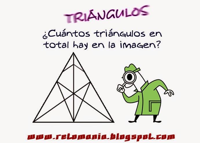 Cuántos triángulos hay, Descubre el número, Retos matemáticos, Retos para pensar, Piensa Rápido, Desafíos matemáticos, Problemas matemáticos
