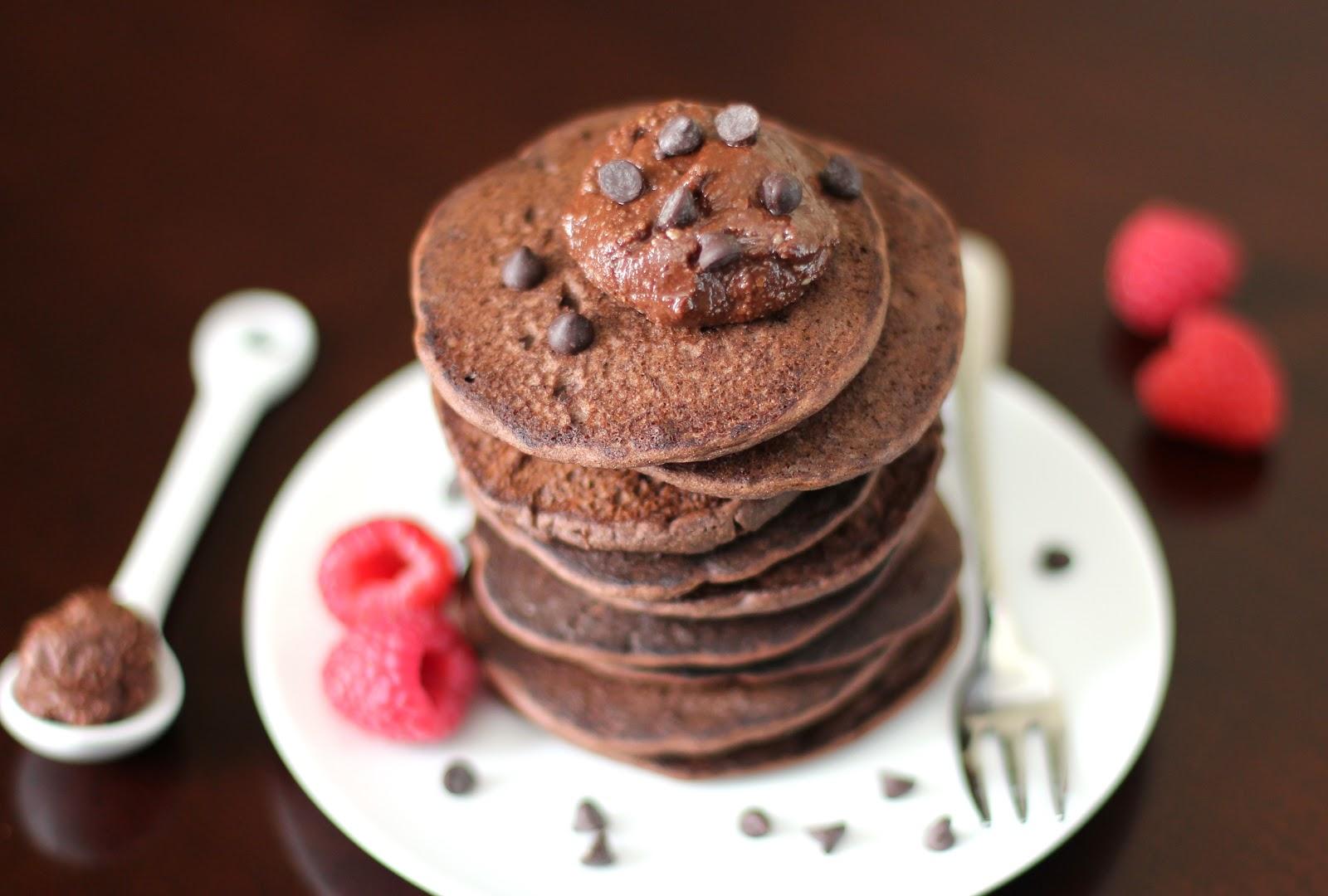 Healthy Chocolate Buckwheat Pancakes Recipe (Gluten Free) | Desserts With Benefits