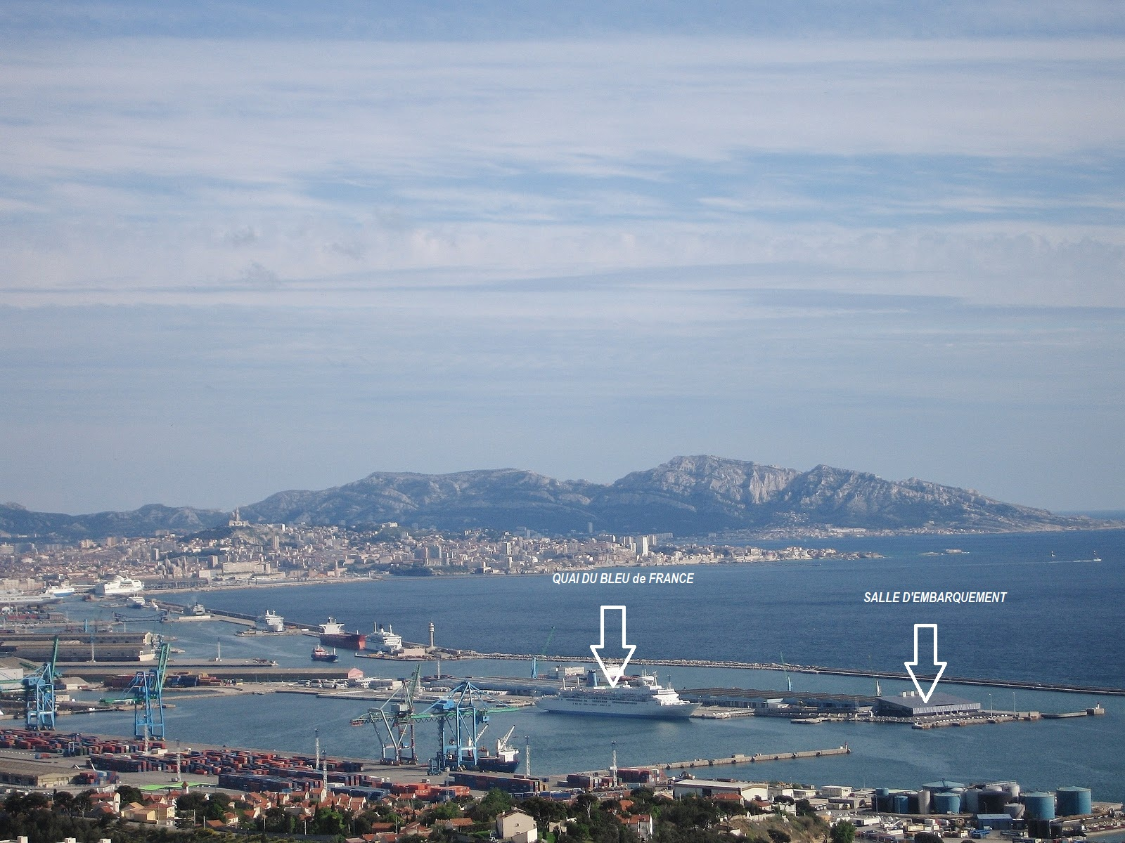Blog croisi res de france horizon 2012 2013 vue sur le port autonome de marseille - Port de croisiere marseille ...