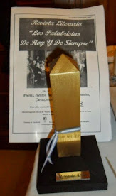 Revista Literaria Los Palabristas de hoy y de siempre junto a su web- blog obtuvo galardón de oro