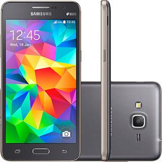 "Comprar Smartphone Samsung Galaxy Gran Prime Duos Desbloqueado Android 4.4 Tela 5"" 8GB 3G Wi-Fi Câmera"