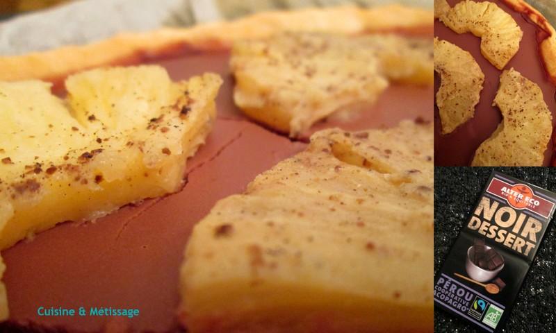 tarte chocolat ananas