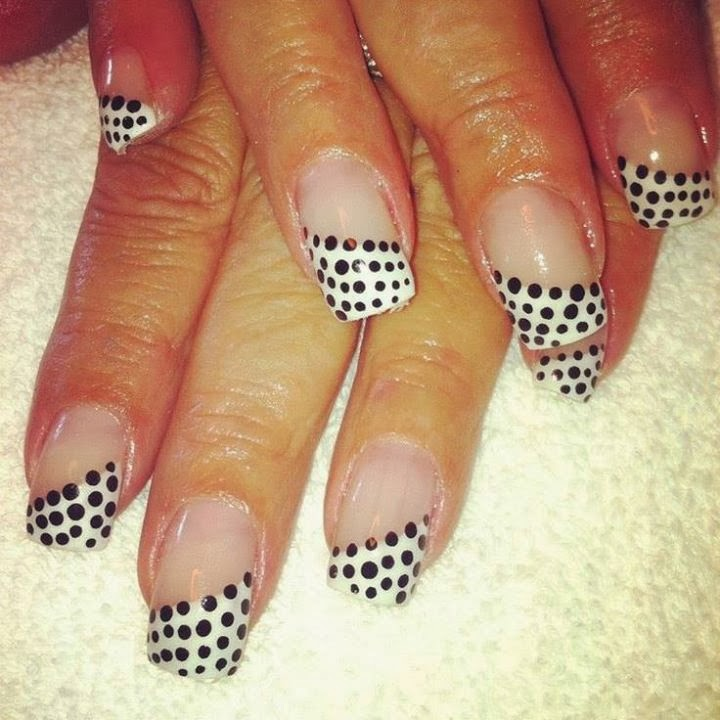 Black And White Gel Manicure- HireAbility