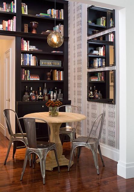 decoração de sala de jantar pequena, aproveitamento de espaços