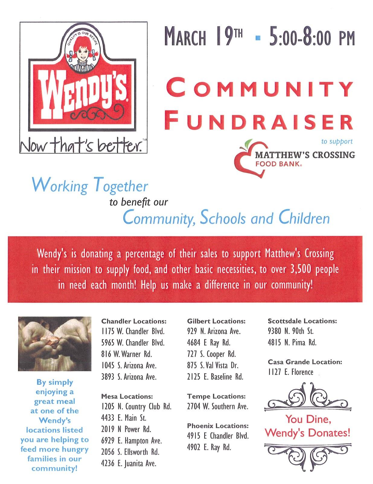wendy s fundraiser flyer
