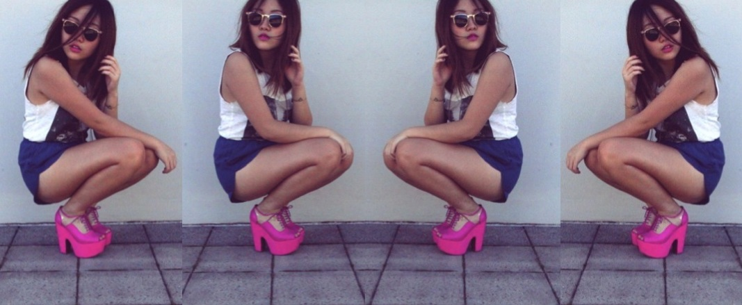 anthea's best hot pink wedge heels by jeffrey campbell