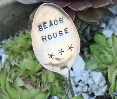spoon plant and garden markers