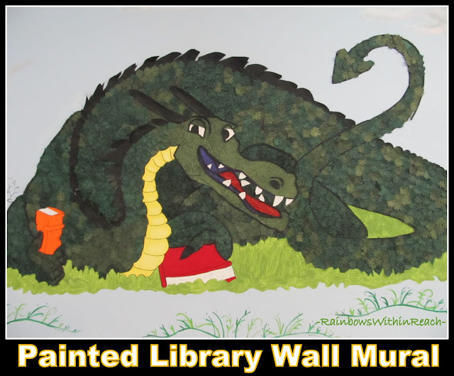 "photo of: ""Going to the Library"" Mural and 'decorated' environment in Public Library"