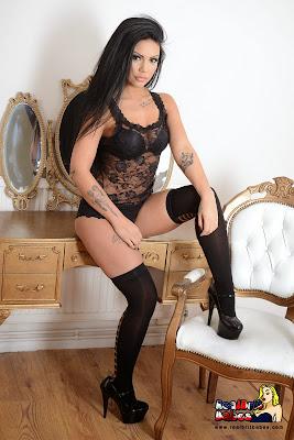 Lingerie Babe Sam Grierson Black Lace Lingerie