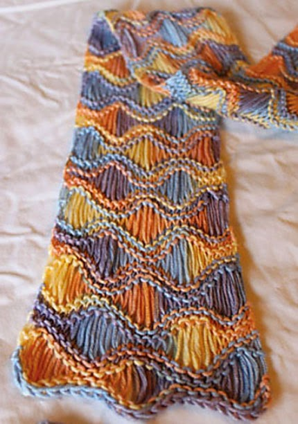 We Like Knitting Free Patterns : We like knitting seafoam scarf free pattern