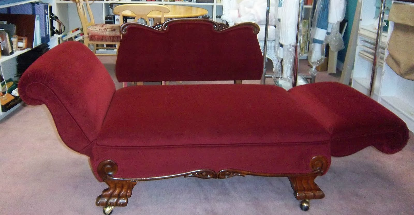 Antique convertible sofa craig upholstering for Chaise lounge convertible bed