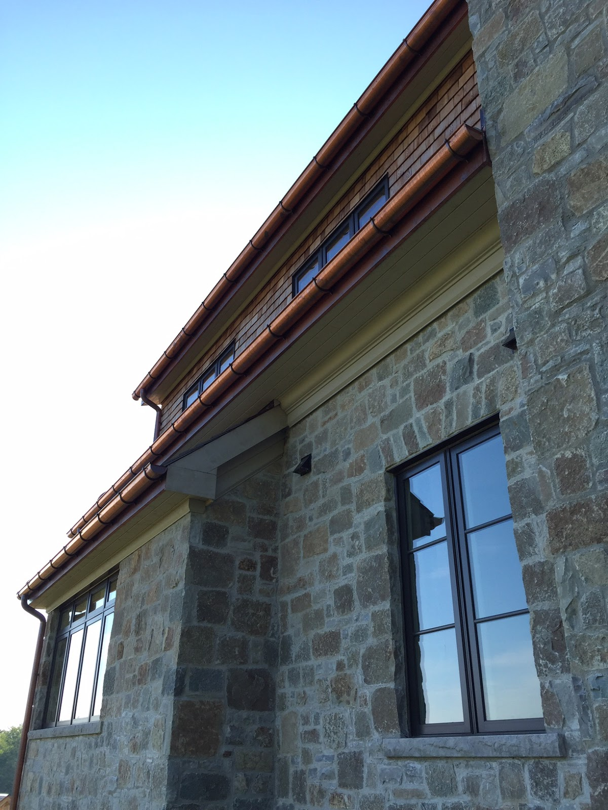 Building walnut farm architectural bling copper gutters for Architectural trim