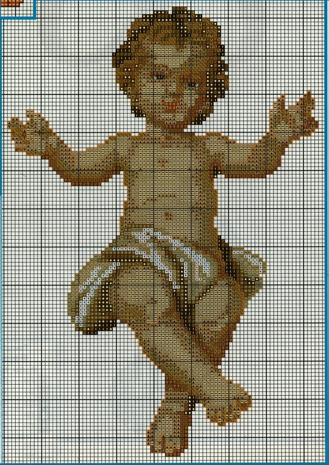 Professione donna schema punto croce ges bambino for Immagini di punto croce