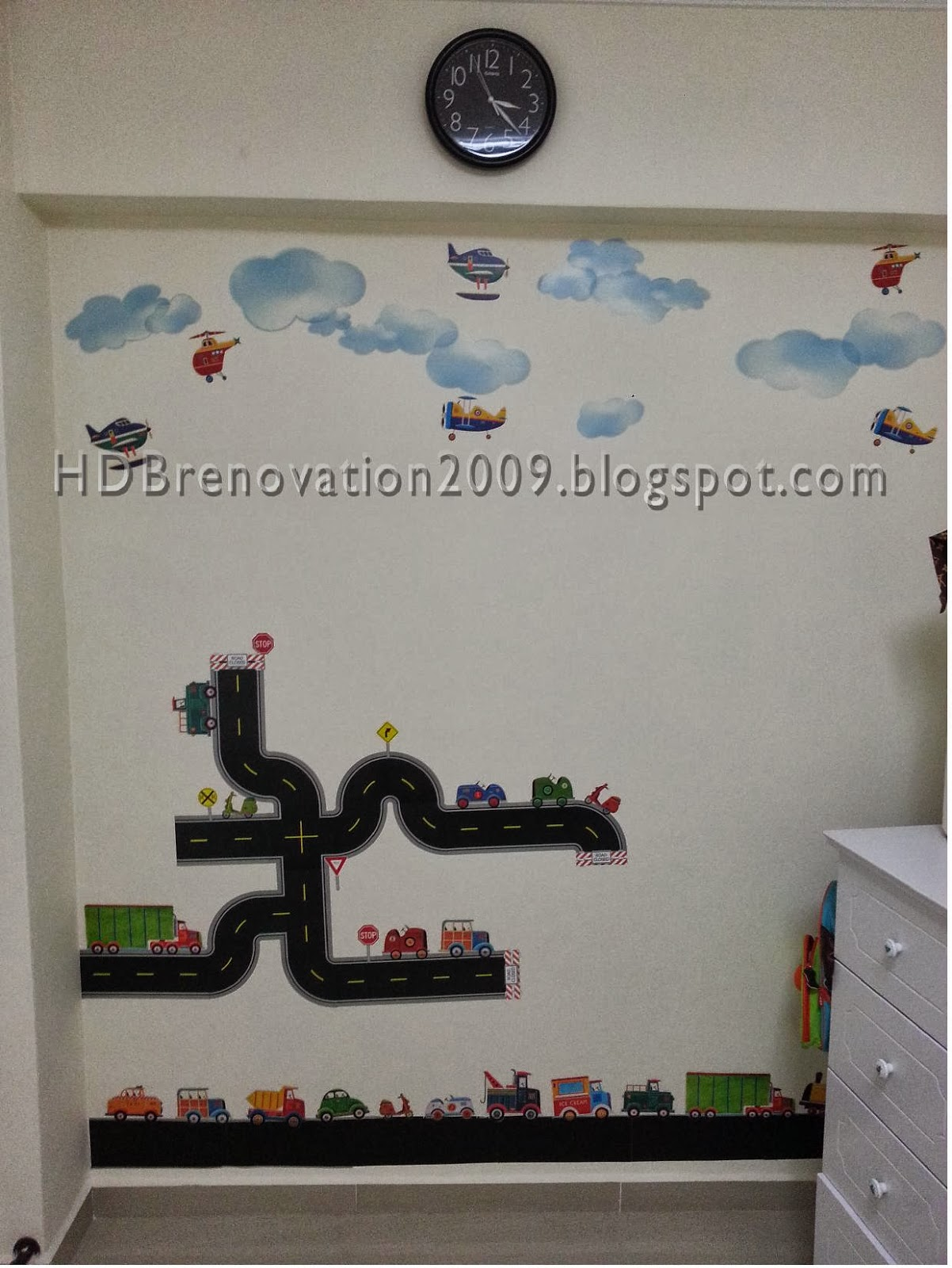 Unique HDB mon room decoration with wall decal for Boys