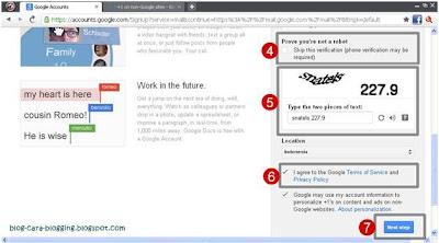 Mengisi data diri untuk membuat sebuah alamat email Gmail baru.