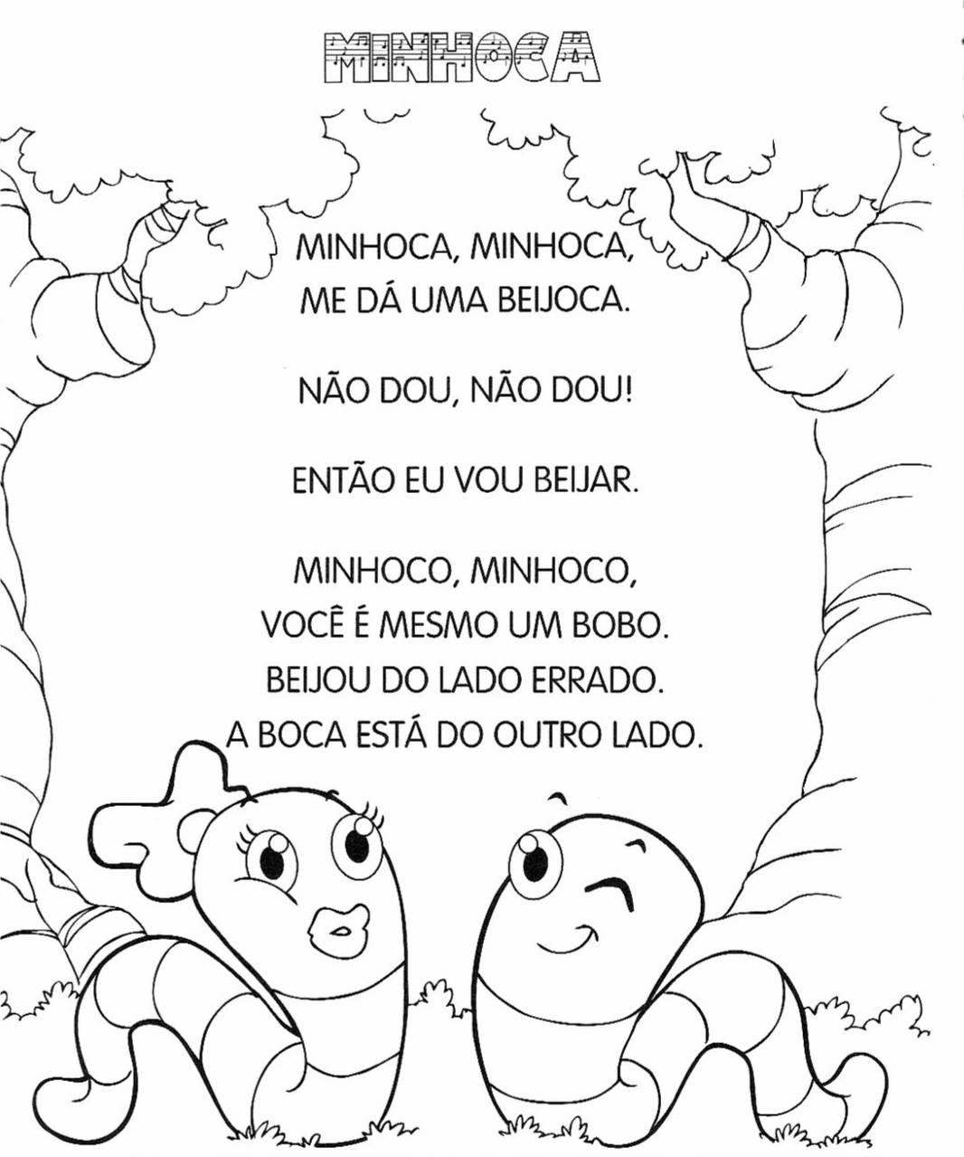 a desenhar Canticos infantis colorir