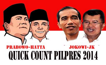 Hasil Quick Count Sementara Pilpres 2014