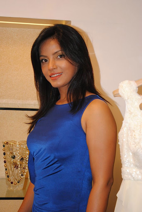 neetu chandra in blue skirt latest photos