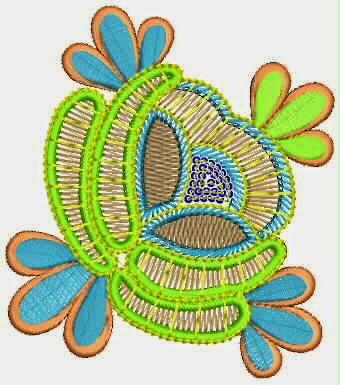 blom borduurwerk appliekwerk ontwerp