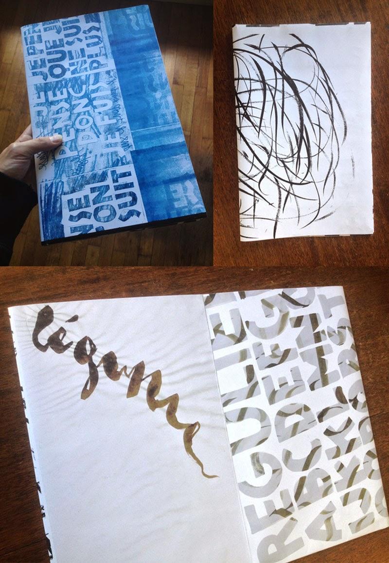 calligraphie, gravure, impression