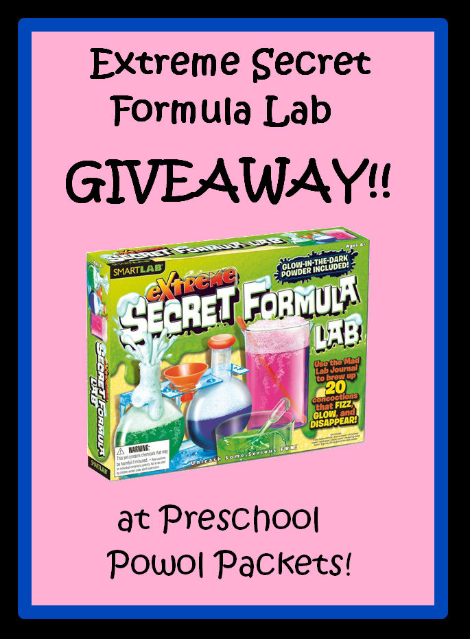 Extreme Secret Formula Lab Giveaway!!